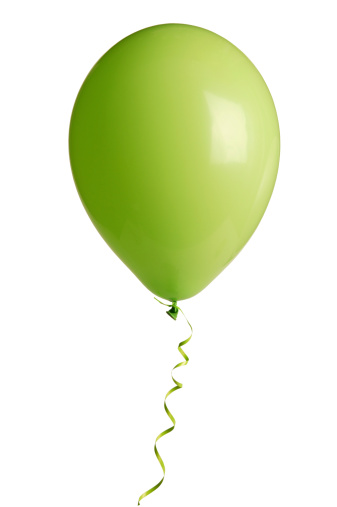 Balloon「緑の党バルーンにホワイト(w /クリッピングパス)」:スマホ壁紙(12)