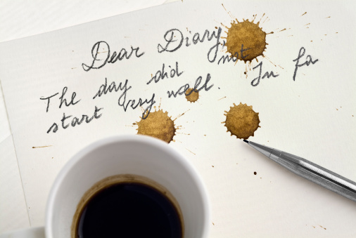 Distraught「Bad day: The coffee stains the diary page - POV」:スマホ壁紙(4)