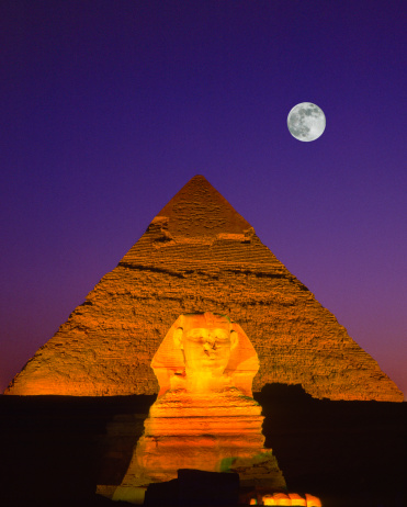 Pyramid Shape「Sphinx & Pyramid, Giza, Egypt」:スマホ壁紙(2)