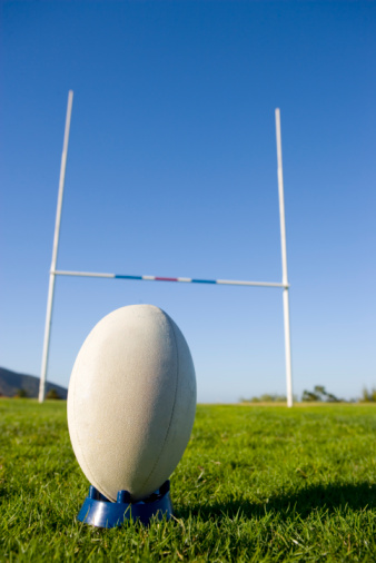 Goal Post「Rugby ball on tee」:スマホ壁紙(12)