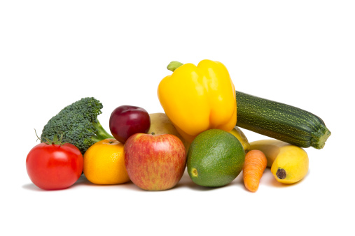 Broccoli「A selection of fresh fruit and vegetables」:スマホ壁紙(6)