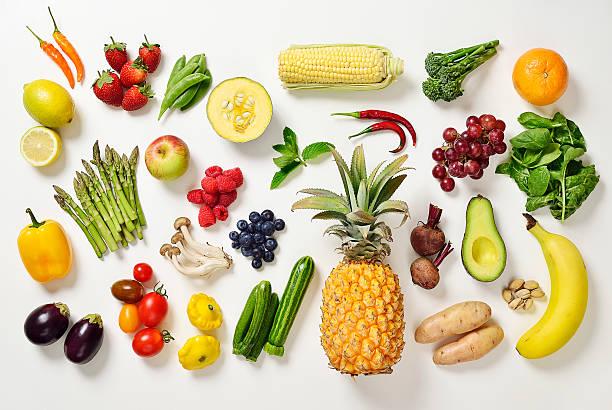 Selection of fruit and vegetables:スマホ壁紙(壁紙.com)