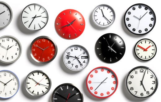 Abundance「A selection of wall clocks showing different times」:スマホ壁紙(4)