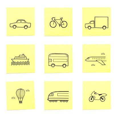 Motorcycle「A selection of travel related sticky memo notes」:スマホ壁紙(2)