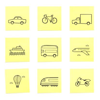 自転車・バイク「A selection of travel related sticky memo notes」:スマホ壁紙(8)