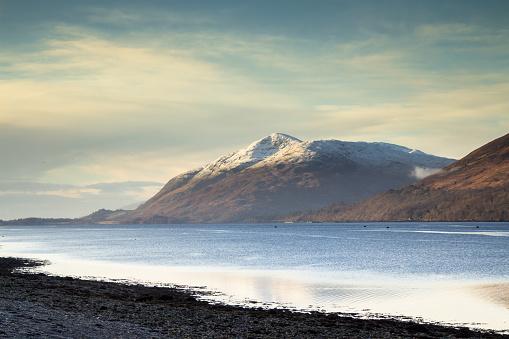 スコットランド文化「Loch Linnhe and Garbh Bheinn, Scottish Highlands」:スマホ壁紙(4)