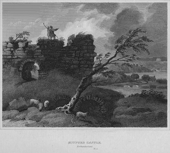 Rustic「Mitford Castle, Northumberland, 1814」:写真・画像(5)[壁紙.com]