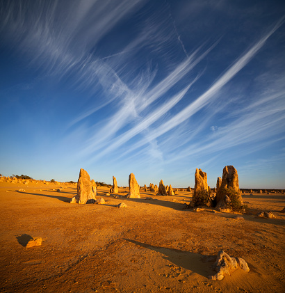 Limestone「Desert scene at The Pinnacles in Western Australia」:スマホ壁紙(3)