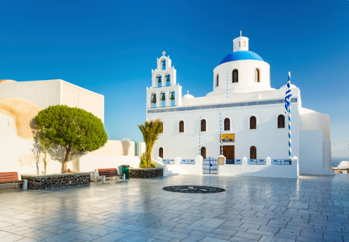 Town Square「Church on Santorini, Greece」:スマホ壁紙(1)