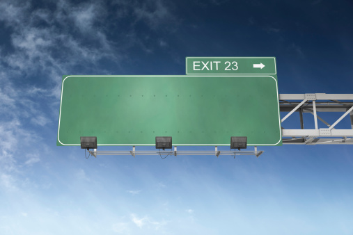 Road Sign「Blank Highway Sign」:スマホ壁紙(18)