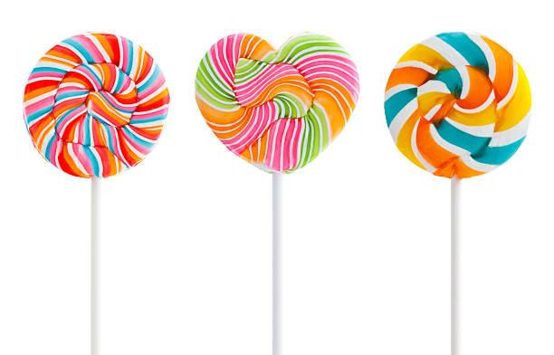 Three Colorful Swirl Lollipops:スマホ壁紙(壁紙.com)