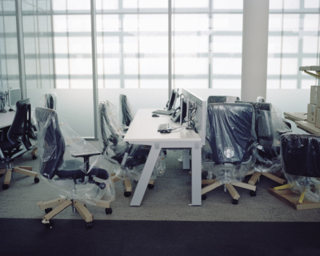 Moving Office「brand new office furniture with plastic wrap」:スマホ壁紙(0)