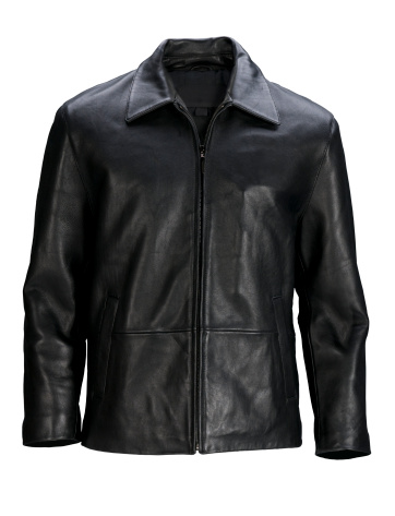 Leather Jacket「Man's blank black leather jacket front-isolated on white w/clipping path」:スマホ壁紙(15)