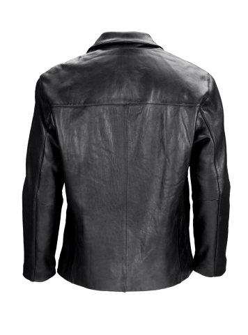 Leather Jacket「Man's blank black leather jacket back-isolated on white w/clipping path」:スマホ壁紙(3)