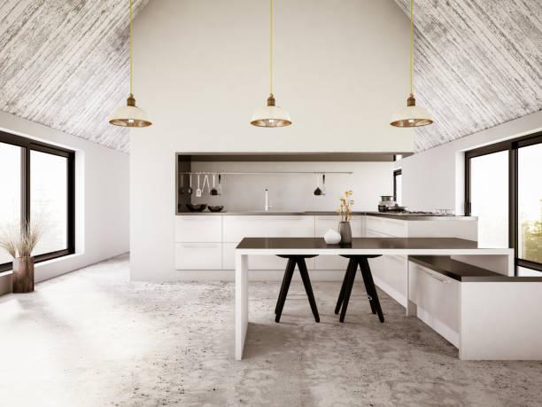 Modern Apartment Iinterior with Kitchen:スマホ壁紙(壁紙.com)