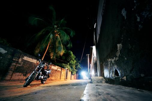 Motorcycle「night in african town」:スマホ壁紙(9)