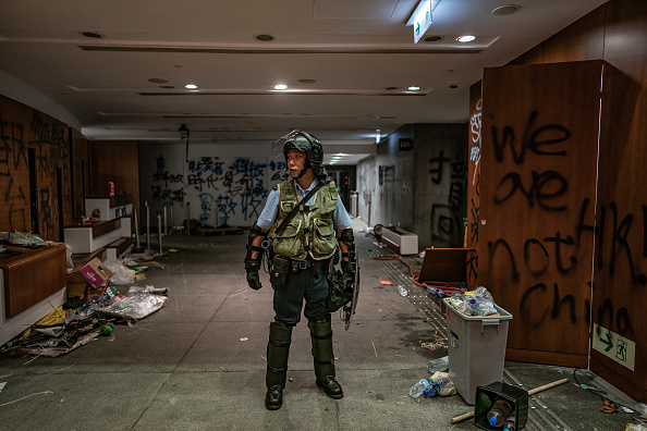 Graffiti「Anti-Extradition Protesters Rally In Hong Kong」:写真・画像(14)[壁紙.com]