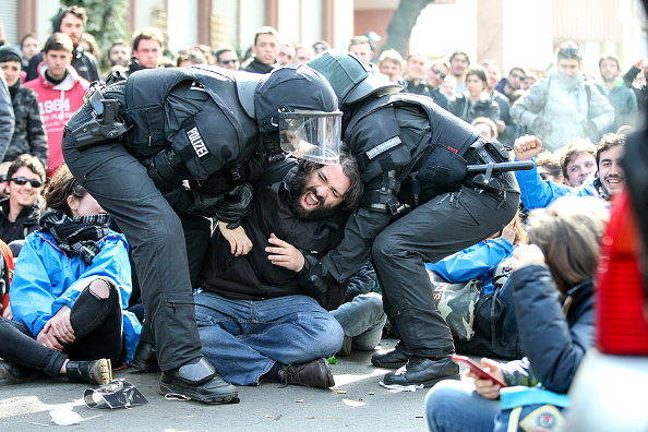 Seat of the European Central Bank「Blockupy Protests Accompany ECB Inauguration」:写真・画像(14)[壁紙.com]
