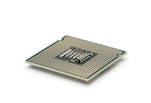 CPU「Computer processor isolated on white」:スマホ壁紙(15)
