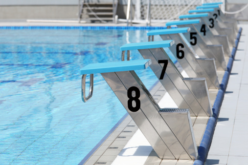 Number「Olympic swimming pool start line」:スマホ壁紙(14)