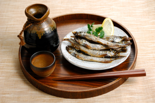 Sake「Grilled capelin and shochu」:スマホ壁紙(19)