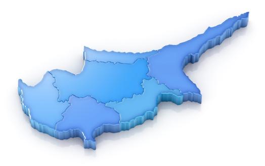 世界の風景(地域別)「キプロスマップ、地区」:スマホ壁紙(6)