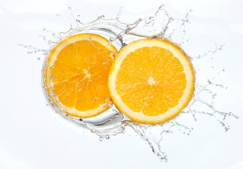 Orange - Fruit「Orange slices Splash」:スマホ壁紙(2)