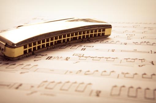 Rehearsal「A harmonica on a sheet of music」:スマホ壁紙(17)