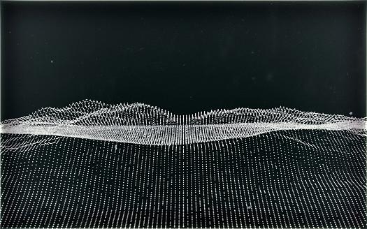 Rolling Landscape「Particle grid」:スマホ壁紙(1)