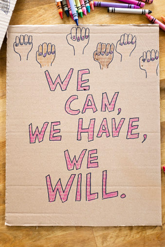Women's Issues「Protest poster for women's march」:スマホ壁紙(10)