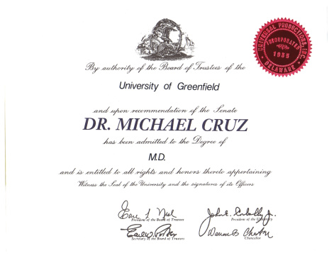Graduation「Medical diploma」:スマホ壁紙(0)