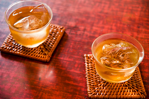 Ice Tea「Two glasses of iced barley tea」:スマホ壁紙(11)