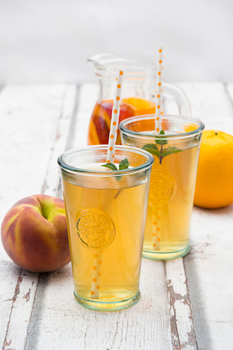 Tea - Hot Drink「Two glasses of peach orange ice tea」:スマホ壁紙(16)