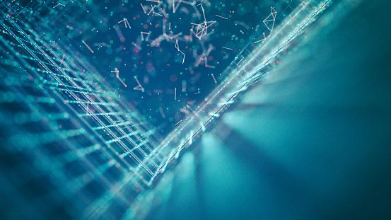 Big Data「Blue grid background」:スマホ壁紙(13)