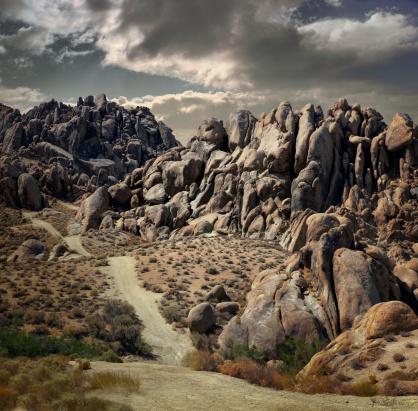 Dirt Road「Alabama Hills, Lone Pine, California」:スマホ壁紙(5)