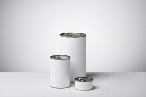 Preserved Food「Blank labeled products on neutral white to gray gradient background」:スマホ壁紙(4)