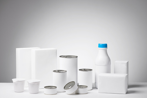 Box - Container「Blank labeled products on neutral white to gray gradient background」:スマホ壁紙(19)