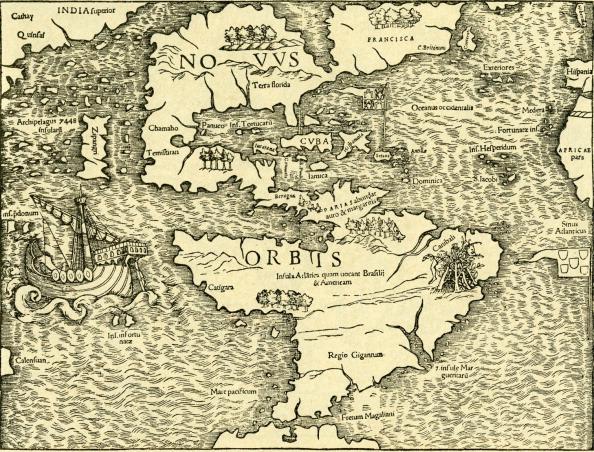 16世紀のスタイル「The New World - map in Ptolemy 's 'Geographia Universalis'」:写真・画像(5)[壁紙.com]
