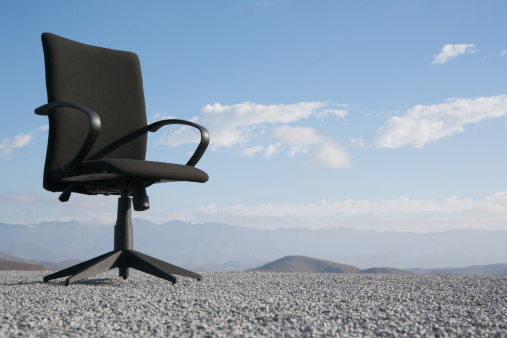 Remote Location「Office chair on a terrain full of pebbles」:スマホ壁紙(10)
