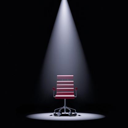 Spotlight「Office chair in a spotlight」:スマホ壁紙(6)