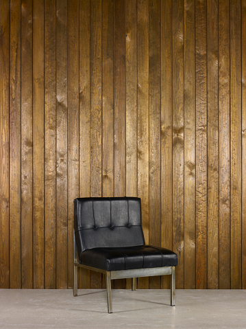 Animal Skin「Office Chair With Wood Background」:スマホ壁紙(9)