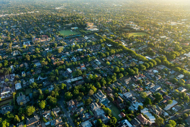 Melbourne suburb in the sunrise:スマホ壁紙(壁紙.com)