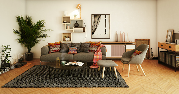 Color Manipulation「Cozy Home Interior」:スマホ壁紙(10)