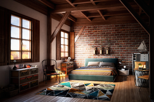 Brick Wall「Cozy Home Interior」:スマホ壁紙(15)