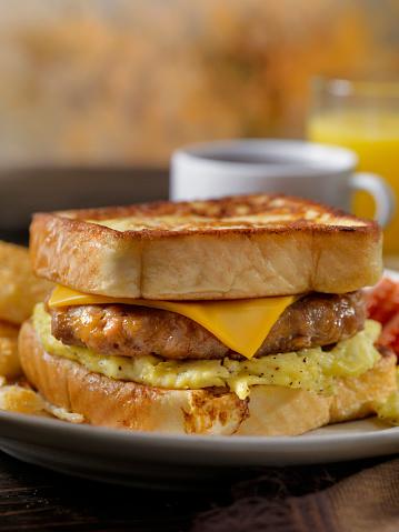 Toasted Food「French Toast Breakfast Sandwich」:スマホ壁紙(18)