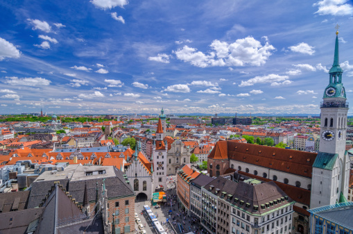 Munich「Munich Skyline and Alps」:スマホ壁紙(8)