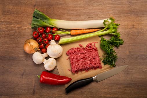 Low Carb Diet「Vegetable mincemeat pan, ingredients」:スマホ壁紙(17)