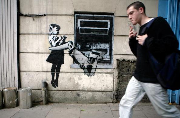 Graffiti「Banksy Graffiti Appears In London」:写真・画像(14)[壁紙.com]
