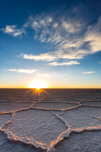 Bolivia「South America, Bolivia, Atacama, Altiplano, Salar de Uyuni at sunrise」:スマホ壁紙(11)