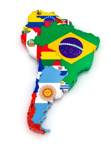 Argentinian Flag「South America map with flags」:スマホ壁紙(9)